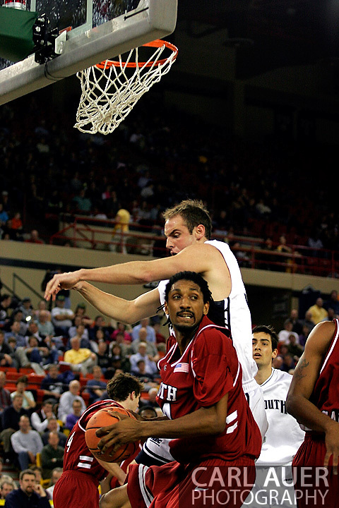 25 November 2005: USC junior forward, Renaldo Balkman (34), grabs a rebound in the South Carolina 62-56 victory over Monmouth University at the Great Alaska Shootout in Anchorage, Alaska