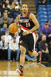 January 19, 2011; Sacramento, CA, USA;  Portland Trail Blazers point guard Andre Miller (24) dribbles up court against the Sacramento Kings during the first quarter at the ARCO Arena. Portland defeated Sacramento 94-90 in overtime.