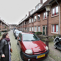 Nederland, Amsterdam , 4 december 2013.<br /> De Zwaluwstraat in Amsterdam Noord. 1 van de armere buurten van Amsterdam.<br /> Residents in the poorer districts of Amsterdam.