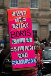 Boris fan at Bute House.