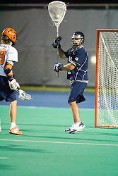 Georgetown Hoyas G Miles Kass (1)..The Virginia Cavaliers men's lacrosse team faced the Georgetown Hoyas in a Fall Ball Scrimmage held at the University Hall Turf Field in Charlottesville, VA on October 12, 2007.