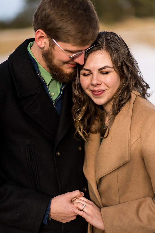 EVERGREEN, CO - DECEMBER 23: Engagement of Mary Margaret Brady and Waylon Duncan at Alderfer/Three Sisters Park on December 23, 2019, in Evergreen, Colorado. (Photo by Daniel Petty/A&D Creative)