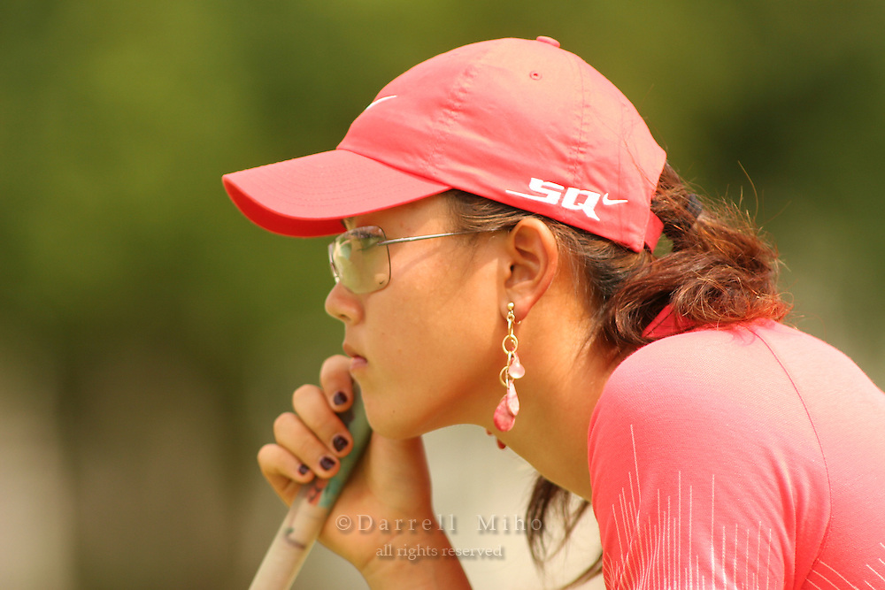Feb 25, 2006; Kapolei, HI, USA; Michelle Wie reads the green during the final round at the inaugural LPGA Fields Open at Ko Olina Resort. ..Photo Credit: Darrell Miho .Copyright © 2006 Darrell Miho