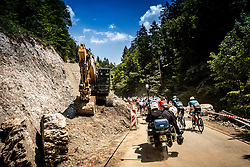 Peloton near Ziri during 3rd Stage of 26th Tour of Slovenia 2019 cycling race between Zalec and Idrija (169,8 km), on June 21, 2019 in Slovenia. Photo by Vid Ponikvar / Sportida