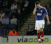 Photo: Lee Earle.<br /> Portsmouth v Leeds United. Carling Cup. 28/08/2007.Portsmouth's David Nugent.