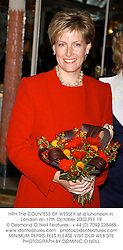HRH The COUNTESS OF WESSEX at a luncheon in London on 17th October 2002.<br />PEF 19