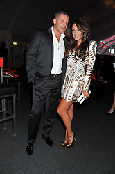 TAMARA ECCLESTONE and OMAR KHYAMI at the inaugural Gabrielle's Gala in London in aid of Gabrielle's Angel Foundation for Cancer Research held at Battersea Power Station, London on 7th June 2012.