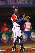 MEXICO CITY - MARCH 12: Catcher Rolando Merino #40 of Cuba motions toward the infield during a key inning against Mexico in Pool B, game 6 in the first round of the 2009 World Baseball Classic at Foro Sol Stadium in Mexico City, Mexico, on Thursday March 12, 2009. Cuba got a mercy rule win over Mexico by virtue of a 16-4 score in the seventh inning. (Photo by Paul Spinelli/WBCI/MLB Photos) *** Local Caption *** Rolando Merino