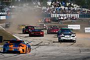 March 15-17, 2018: Mobil 1 Sebring 12 hour. Start of the Mobil 1 12 hours of Sebring. <br /> <br /> 48 Paul Miller Racing, Lamborghini Huracan GT3, Bryan Sellers, Corey Lewis, Madison Snow,