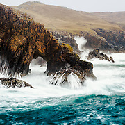 Nothing better than being battered by the wind and rain while watching the Atlantic thrash itself onto the rugged coast at Strathy Point