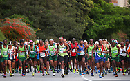 MOSSEL BAY, SOUTH AFRICA - SEPTEMBER 23: athletes at the start during the PetroSA Marathon hosted by Athletics South Western Districts (SWD) on September 23, 2017 in Mossel Bay, South Africa. (Photo by Roger Sedres/ImageSA)