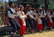 """Dancers perform the Spoon Dance, which is a tradition from Konya to Silifke in the Republic of Turkey. Image published in the travel handbook """"Moon Istanbul & the Turkish Coast"""" by Jessica Tamtürk, Avalon Travel Publishing, 2010."""