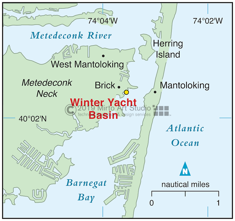 Vector map of Brick, New Jersey marina
