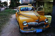 Old American car in Cardenas, Matanzas, Cuba.