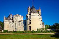 France, Maine-et-Loire (49), Brézé, le château néo-gothique de Brézé // France, Maine et Loire(department), Loire valley, Brézé castle