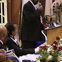 Chariman of the Committee for King, Kenneth Mayfield welcomed attendees to the MLK Banquet Saturday at St. Paul United Methodist Church