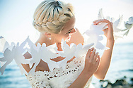 Wedding, Bride, Women, Playful, Cut Out, Paper, Decoration,