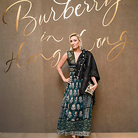 Guest at the Burberry Pacific Place Store event on November 05, 2015 in Hong Kong.  Photo by Victor Fraile / studioEAST