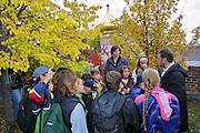 The Hundertwasserhaus, the first and most famous public housing project by Austrian artist and architekt Friedensreich Hundertwasser..Visit to Hundertwasserhaus by a primary school class.