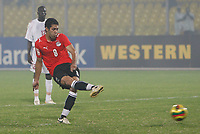Photo: Steve Bond/Richard Lane Photography.<br /> Egypt v Sudan. Africa Cup of Nations. 26/01/2008. Hosny Abd-Rabou strokes home the twice taken penalty