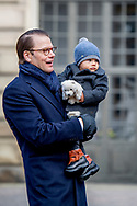 12-3-2017 - STOCKHOLM - The Crown Princess  name day<br />  Crownprincess Victoaria with prince Daniel and Princess Estelle and prince Oscar during Name<br /> day 2017 at The Inner Courtyard, the Royal Palace of Stockholm . Copyright Robin Utrecht <br /> <br /> 2017/12/03 - STOCKHOLM - The kroon prinses naamdag<br /> &nbsp;kroonprinses  Victoaria met prins Daniel en Prinses Estelle en prins Oscar tijdens Naam<br /> dag 2017 op de binnenplaats, het Koninklijk Paleis van Stockholm. Copyright Robin Utrecht 12-3-2017 - STOCKHOLM - The Crown Princess  name day<br />
