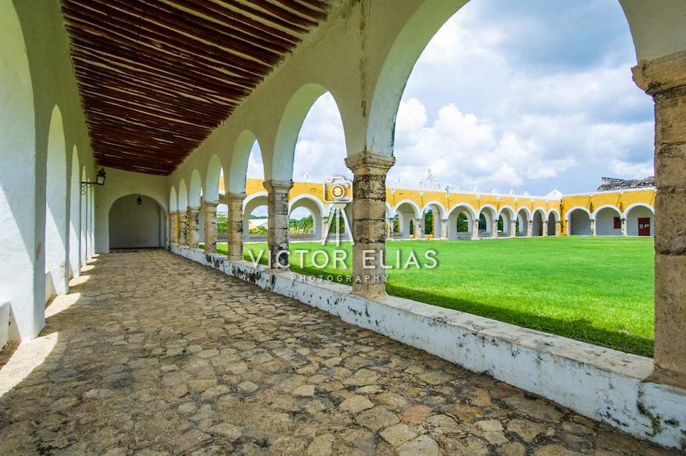 Franciscan convent of Izamal. Yucatan, Mexico.
