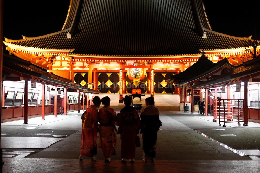 Senso-Ji temple or Asakusa Kammon-Do in Asakusa, Tokyo, Japan // Temple Senso-Ji egalement appele Asakusa Kammon-Do, Asakusa, Tokyo, Japon