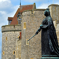 Queen Victoria Statue at Windsor Castle in Windsor, England<br />