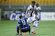 Parma Calcio's Portugese defender Bruno Alves helps Inter's Belgian striker Romelu Lukaku back to his feet following a tussle between the two during the Serie A match at Stadio Ennio Tardini, Parma. Picture date: 28th June 2020. Picture credit should read: Jonathan Moscrop/Sportimage
