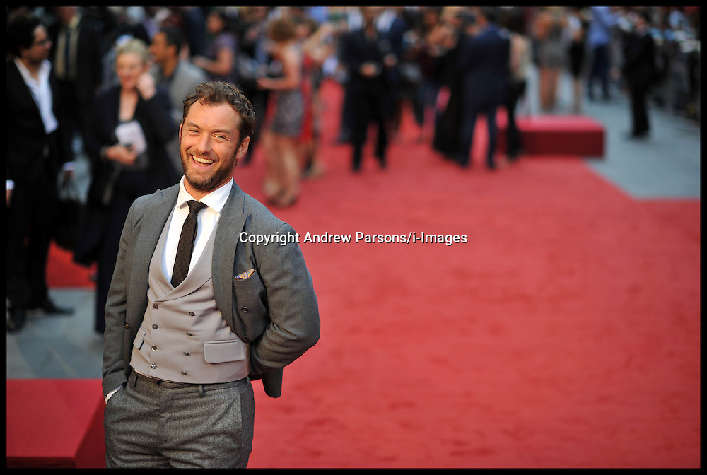 Jude Law arrives for the - UK film premiere of Anna Karenina, London, Tuesday September 4, 2012 Photo Andrew Parsons/i-Images..All Rights Reserved ©Andrew Parsons/i-Images