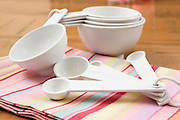 Baking utensils - measuring spoons of different sizes and volume