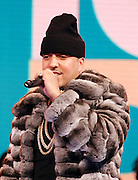 "French Montana appears on BET's ""106th & Park"" at the CBS Television Center in New York City, New York on March 07, 2013."