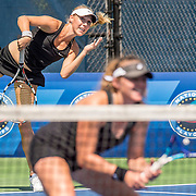 August 20, 2016, New Haven, Connecticut: <br /> Gabriela Porubin and Julia Schiller in action during a US Open National Playoffs match at the 2016 Connecticut Open at the Yale University Tennis Center on Saturday, August  20, 2016 in New Haven, Connecticut. <br /> (Photo by Billie Weiss/Connecticut Open)