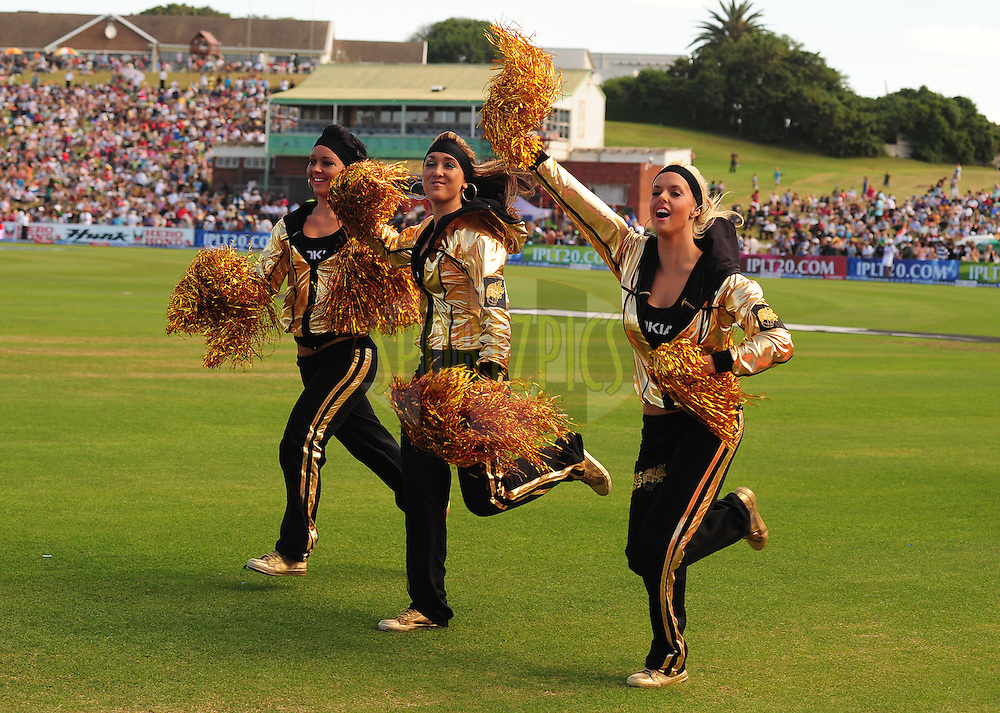 EAST LONDON, SOUTH AFRICA - 1 May 2009.  Cheer Leaders during the  IPL Season 2 match between the Mumbai Indians and the Kolkata Knight Riders held at Buffalo Park in East London. South Africa...