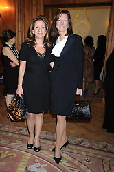 Left to right, RAJHAN CHARCHAFCHI and PATRICE DAGHISTANI at a fashion show and lunch in aid of  AMAR International Charitable Foundation held at The Dorchester, Park Lane, London W1 on 9th October 2008.