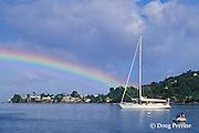 rainbow over Rousseau, Dominica, West Indies ( Caribbean )