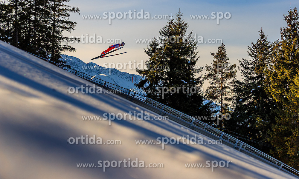 28.01.2017, Casino Arena, Seefeld, AUT, FIS Weltcup Nordische Kombination, Seefeld Triple, Skisprung, im Bild Magnus Krog (NOR) // Magnus Krog of Norway in action during his Trail Jump of Skijumping of the FIS Nordic Combined World Cup Seefeld Triple at the Casino Arena in Seefeld, Austria on 2017/01/28. EXPA Pictures © 2017, PhotoCredit: EXPA/ JFK