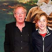 NLD/Amsterdam/20130108 - Premiere Bad Grandpa, Jack Spijkerman en zoon Joska