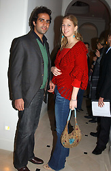 LADY GABRIELLA WINDSOR daughter of Prince & Princess Michael of Kent and her boyfriend AATISH TASEER at a party to celebrate the opening of Jasper Conran's new shop and HQ at 36 Sackville Street, London W1 on 15th February 2005.<br /><br />NON EXCLUSIVE - WORLD RIGHTS