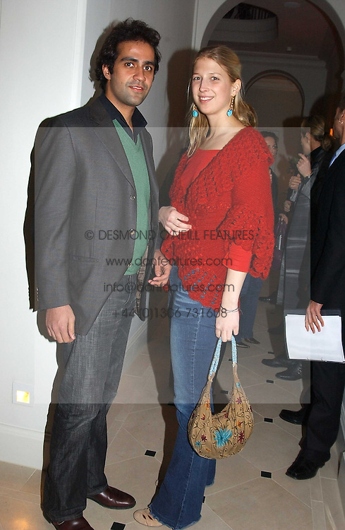 LADY GABRIELLA WINDSOR daughter of Prince &amp; Princess Michael of Kent and her boyfriend AATISH TASEER at a party to celebrate the opening of Jasper Conran's new shop and HQ at 36 Sackville Street, London W1 on 15th February 2005.<br />