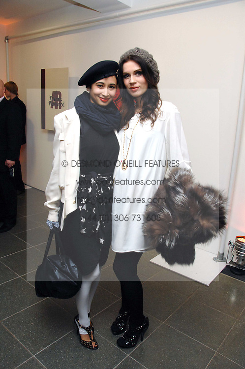 Left to right, stylist HANNAH BHUIYA and jeweller LARA BOHINC at a party to celebrate the publication of Vivienne Westwood's Opus held at The Serpentine Gallery, Kensington Gardens, London W2 on 12th February 2008.<br /><br />NON EXCLUSIVE - WORLD RIGHTS