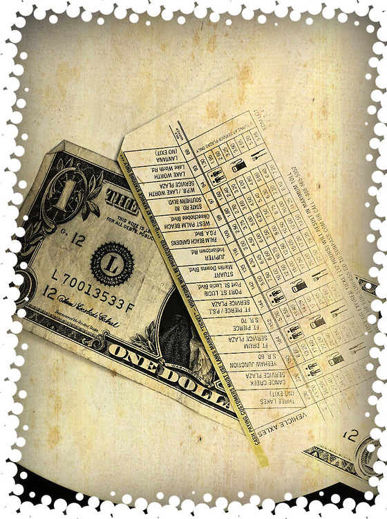 Toll ticket on te turnpike cellphone photography,Iphone pictures,smartphone pictures