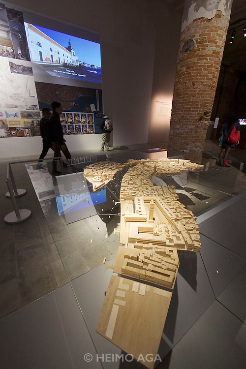 "Venice, Italy - 15th Architecture Biennale 2016, ""Reporting from the Front"".<br /> Arsenale.<br /> Tatar Ando. Puntadella Dogana."