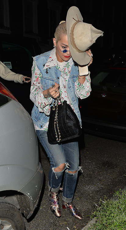 Singer Rita Ora visits Daisy Lowe in north London, UK. 29/05/2015<br />BYLINE MUST READ : GOTCHAIMAGES.COM<br /><br />Copyright by &copy; Gotcha Images Ltd. All rights reserved.<br />Usage of this image is conditional upon the acceptance <br />of Gotcha Images Ltd, terms and conditions available at<br />www.gotchaimages.com