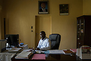 Denis Karera, chairman of the Imbonerakure, a youth wing of the ruling party and general director of Arfic Coffee, poses in is office in the capital Bujumbura in Burundi. (For Der Spiegel)<br />
