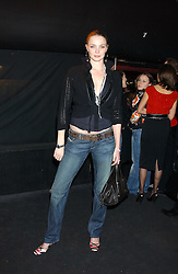 JODIE KIDD at a party to celebrate the first issue of British Harper's Bazaar held at Cirque, 10-14 Cranbourne Street, London WC2 on 16th February 2006.<br /><br />NON EXCLUSIVE - WORLD RIGHTS