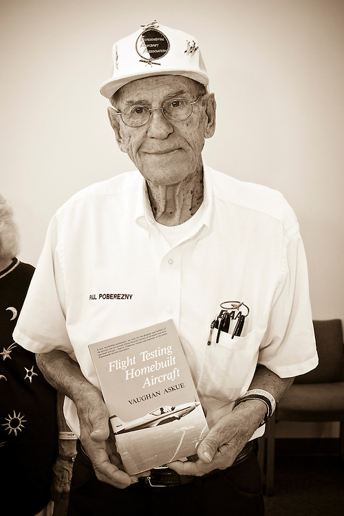 "Paul Poberezny selected this volume of ""Flight Testing Homebuilt Aircraft"" with his winning ticket at a WAI Breakfast.  Sun 'n Fun 2011."