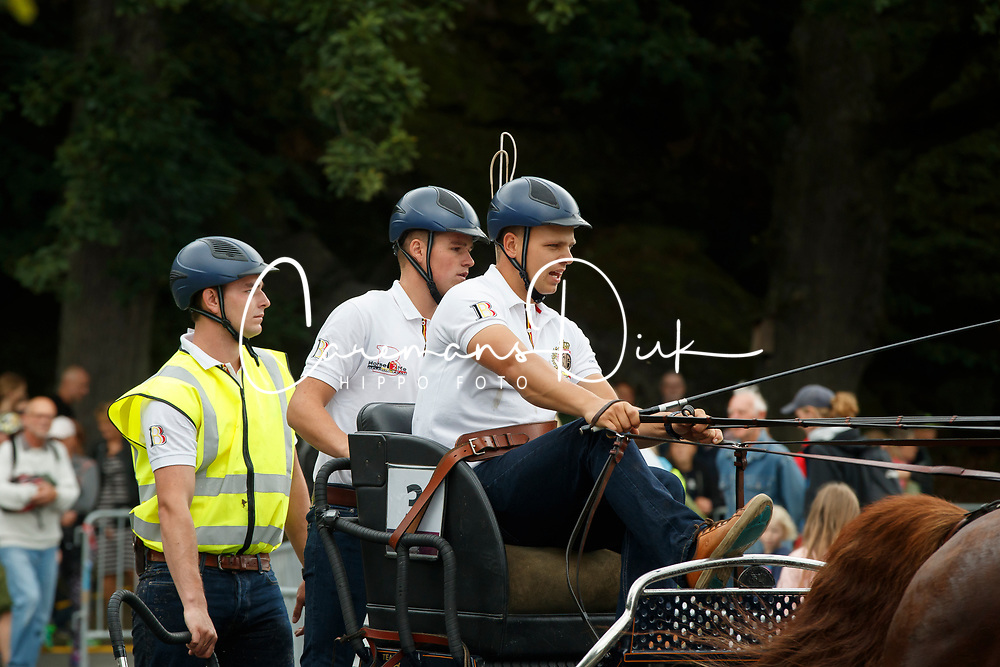 Geerts Glenn, BEL, Dash, De Solist, Erdball, Scampolo<br /> FEI European Driving Championships - Goteborg 2017 <br /> &copy; Hippo Foto - Dirk Caremans<br /> 26/08/2017,