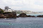 Cote de Basque beach Biarritz, France.