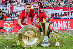 26.05.2019, Red Bull Arena, Salzburg, AUT, 1. FBL, FC Red Bull Salzburg Meisterfeier, im Bild Hannes Wolf (FC Red Bull Salzburg), Trainer Marco Rose (FC Red Bull Salzburg) // during the Austrian Football Bundesliga Championsship Celebration at the Red Bull Arena in Salzburg, Austria on 2019/05/26. EXPA Pictures © 2019, PhotoCredit: EXPA/ JFK